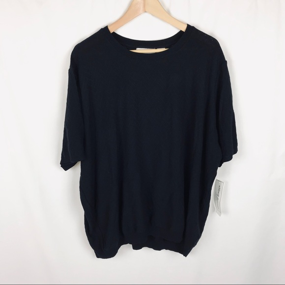 Alfred Dunner Sweaters - Alfred Dunner solid black short sleeve sweater